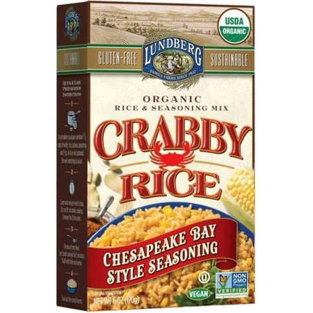 Lundberg Organic Rice   Seasoning Mix Crabby Rice Chesapeake Bay Style  6 0 Oz