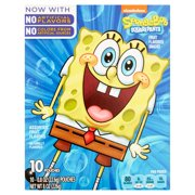 Betty Crocker SpongeBob Fruit Flavored Snacks Assorted Flavors 10 - 0.8 oz Pouches