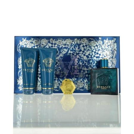 Versace - Versace Eros by Versace for Men - 4 Pc Gift Set 3.4oz EDT Spray 6b747dcc42dd1