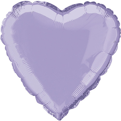 Foil Balloon, Heart, 18 in, Lavender, 1ct