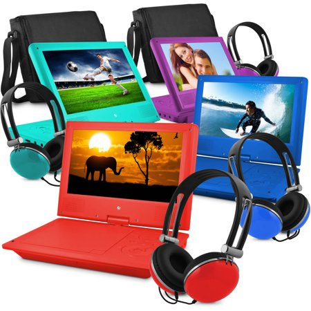 Ematic 9″ Portable DVD Player with Matching Headphones and Bag