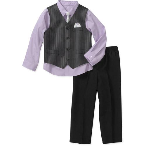 George Baby Toddler Boy 4-piece Vest Set