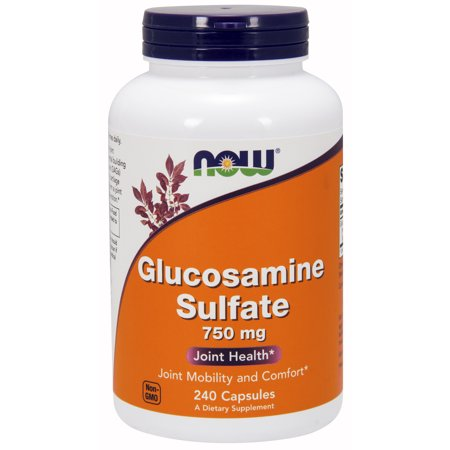 Glucosamine Sulfate 240 Capsules (NOW Supplements, Glucosamine Sulfate 750 mg, with UL Dietary Supplement Certification, 240)