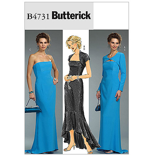 Butterick Pattern Misses' and Misses' Petite Shrug and Dress, AA (6, 8, 10, 12)