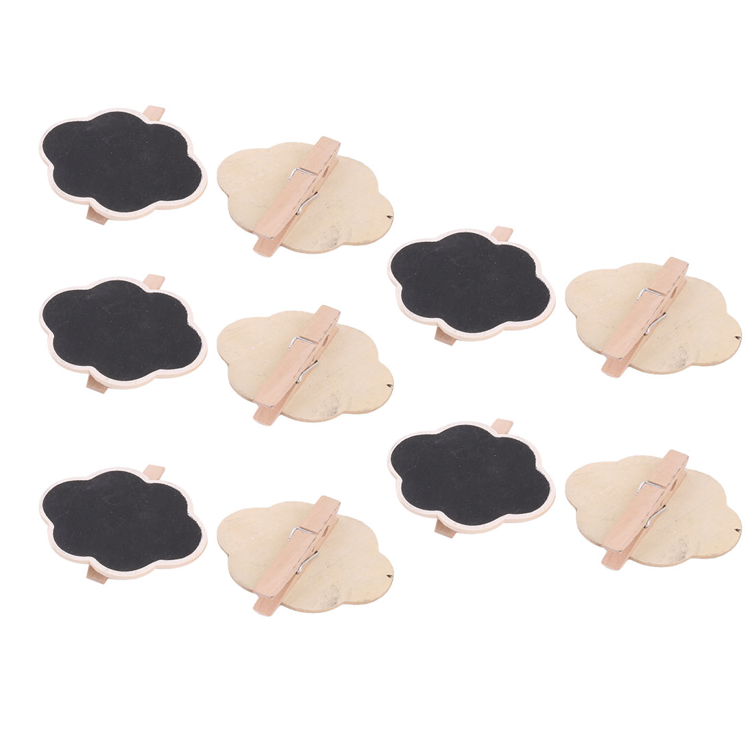 Wedding Party Wood Cloud Shaped Table Number Sign Chalkboard Blackboard 10pcs