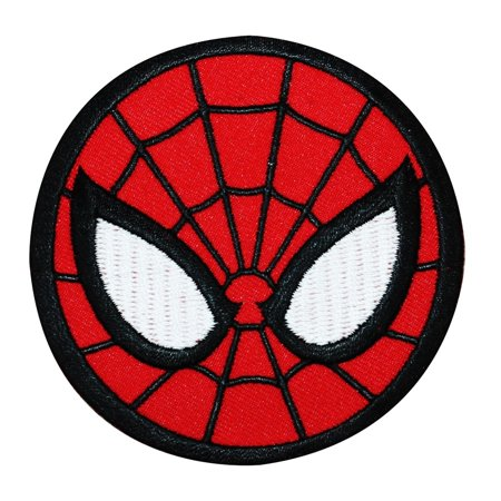 Spider-Man Logo Iron-On Patch Marvel Comic DIY Superhero Outfit Apparel Applique