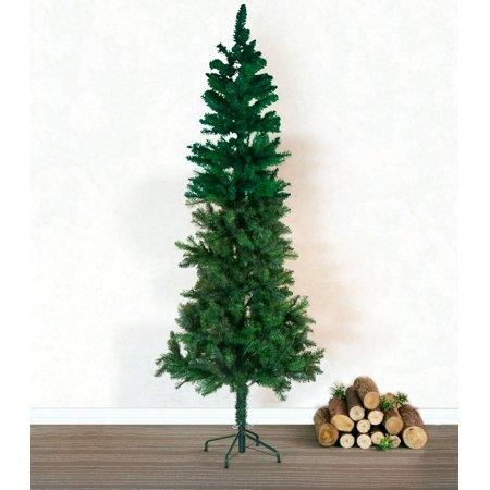 Baner Garden 7â Classic Artificial Pencil PVC Pine Christmas Tree with metal Stand Holiday Season Indoor Outdoor, Green (CT66-7)