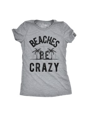 a32f993379e0 Product Image Womens Beaches Be Crazy Tshirt Funny Outdoor Summer Vacation  Tee. Crazy Dog Funny T-Shirts
