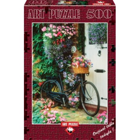 Bicycle   Flowers 500 Piece Puzzle