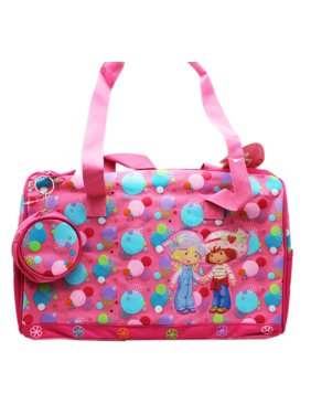 78f84715a443 Product Image Strawberry Shortcake Berry Cool Pink Colored Kids Duffle Bag