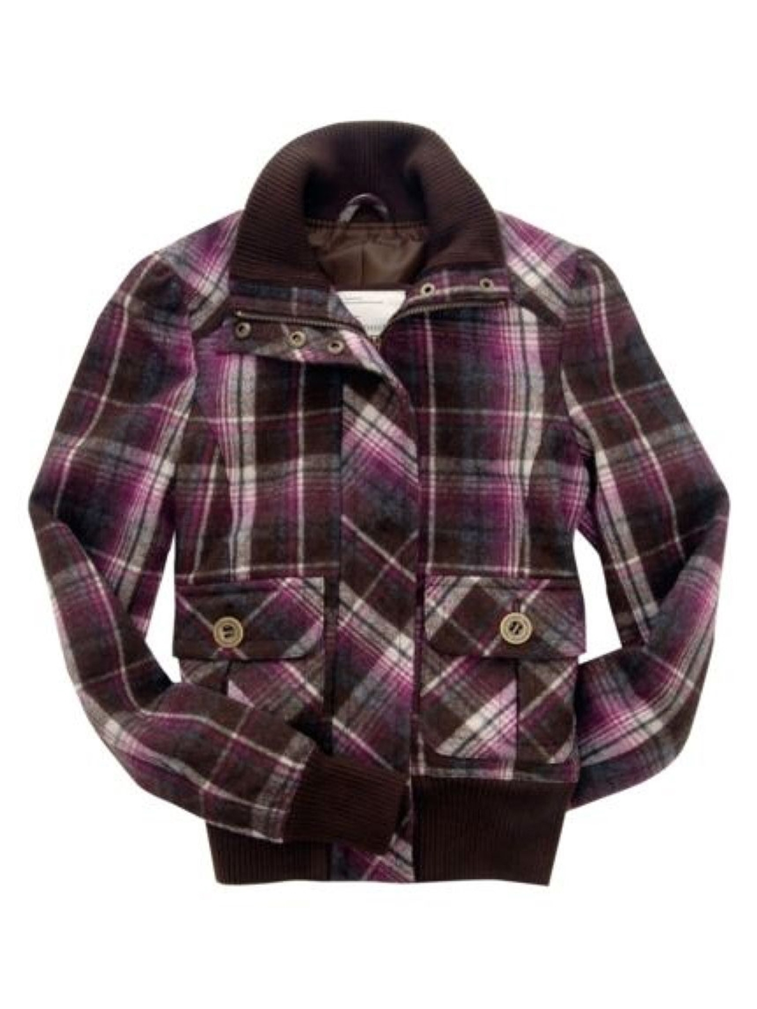 Aeropostale Juniors Plaidlined Field Jacket Purpletwilight M - Juniors