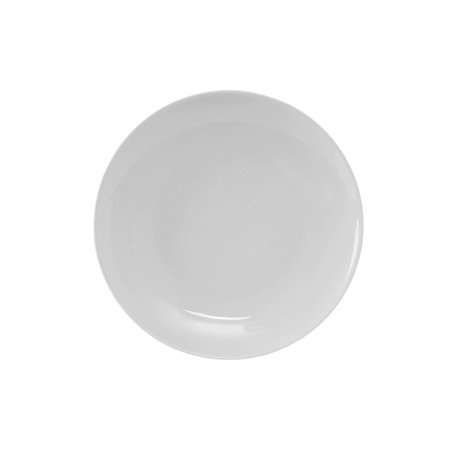 Florence 9 inch Round Plate Coupe Shape in Porcelain White,Case of 24 EA 9 Inch Round Porcelain