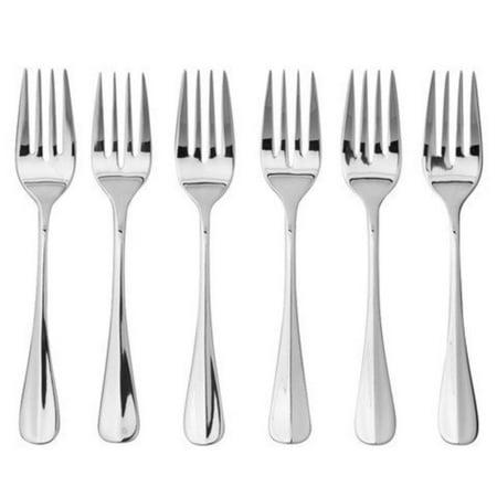 Savor Salad Forks, Set of 6,stainless steel silver, Oneida Savor Set of 6 Salad Forks By Oneida