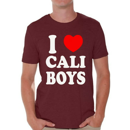 Awkward Styles I Heart Cali Boys Tshirt I Love Cali Boys Shirt California Shirts for Men Cali Gifts California Map T-Shirt Gifts from - Boy Love Boy
