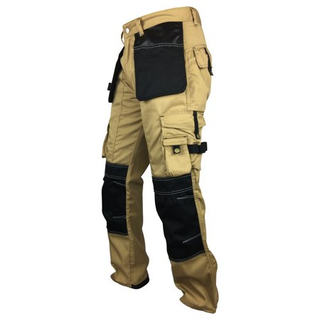 Fashio Mens Cordura Knee Casual Trousers Reinforcement Work Pants