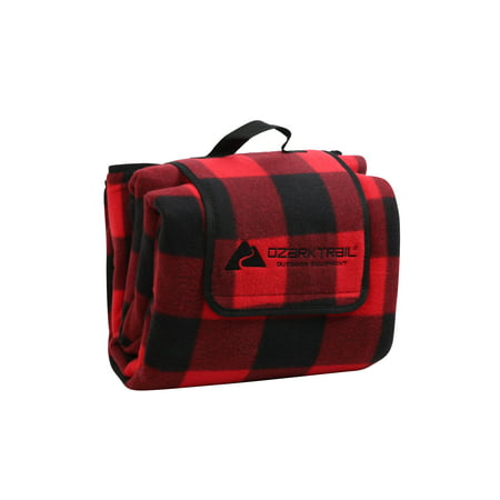 Ozark Trail Oversized Waterproof Plaid-Pattern Picnic