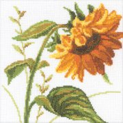 "Sunflowers Counted Cross Stitch Kit-8""X8"" 14 Count"