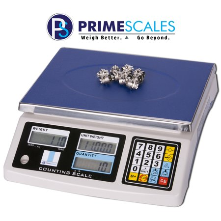 Primescales Zenith 3KGX0.1G Large Platform Precision Counting Scale   Removable Stainless Steel Weighing Pan   Durable Abs Plastic Housing with Protective In-Use Cover