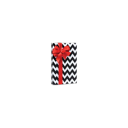 Black and White Chevron Stripe Birthday / Special Occasion Gift Wrap Wrapping Paper-16ft