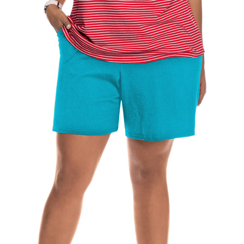 Just My Size by Hanes Women's Plus-Size Essential Knit Shorts