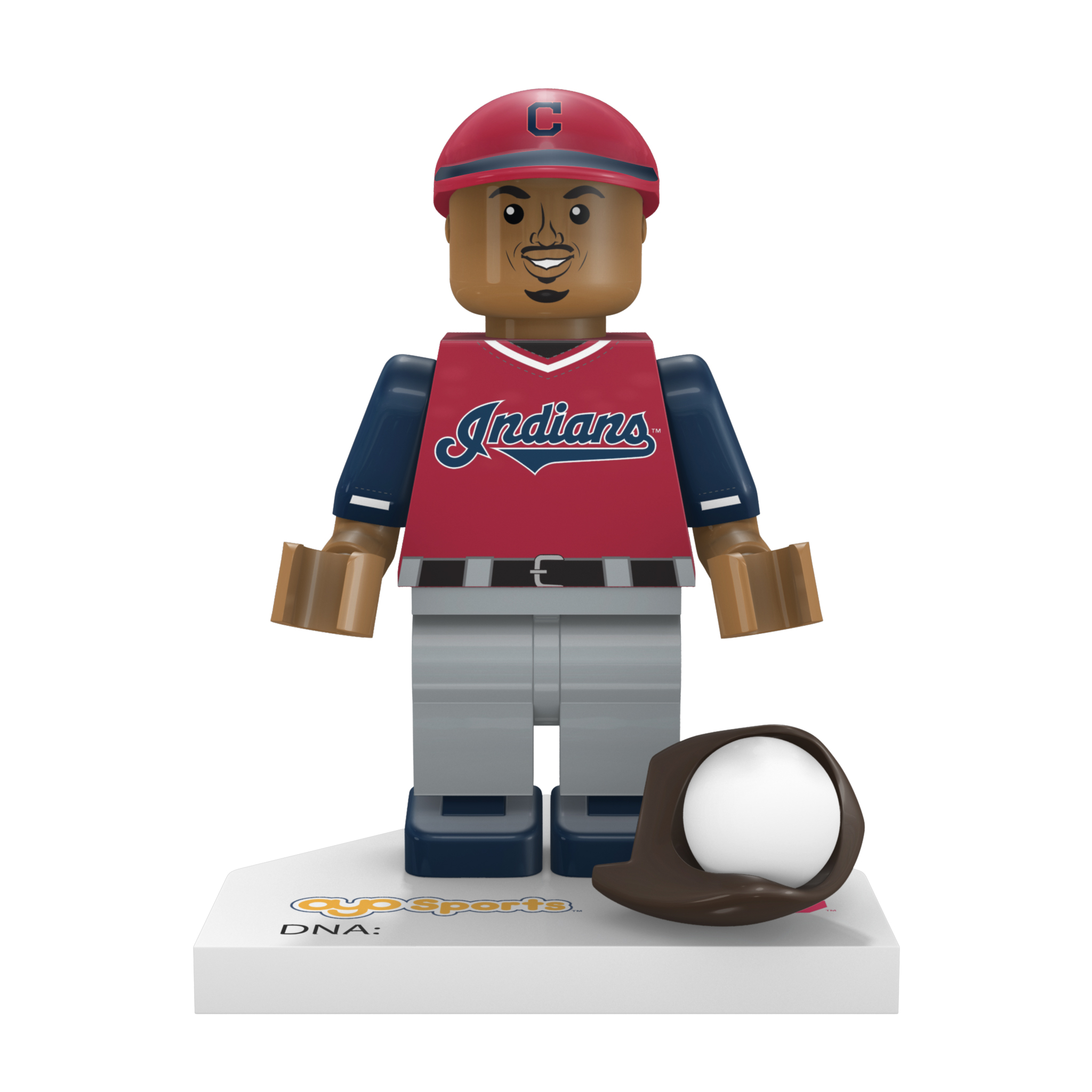 "Francisco Lindor ""Mr. Smile"" Cleveland Indians OYO Sports 2018 Players' Weekend Minifigure - No Size"
