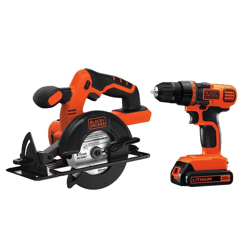 Black & Decker BD2KITCDDCS 20V MAX* Lithium Ion Drill Driver + Circular Saw Combo Kit by Stanley Black & Decker