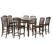 Onoway Dining Set Counter Height-Finish:Mahogany,Quantity:9 Piece