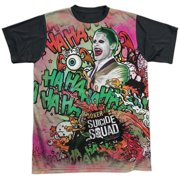 Suicide Squad Joker Psychedelic Cartoon Mens Sublimation Shirt