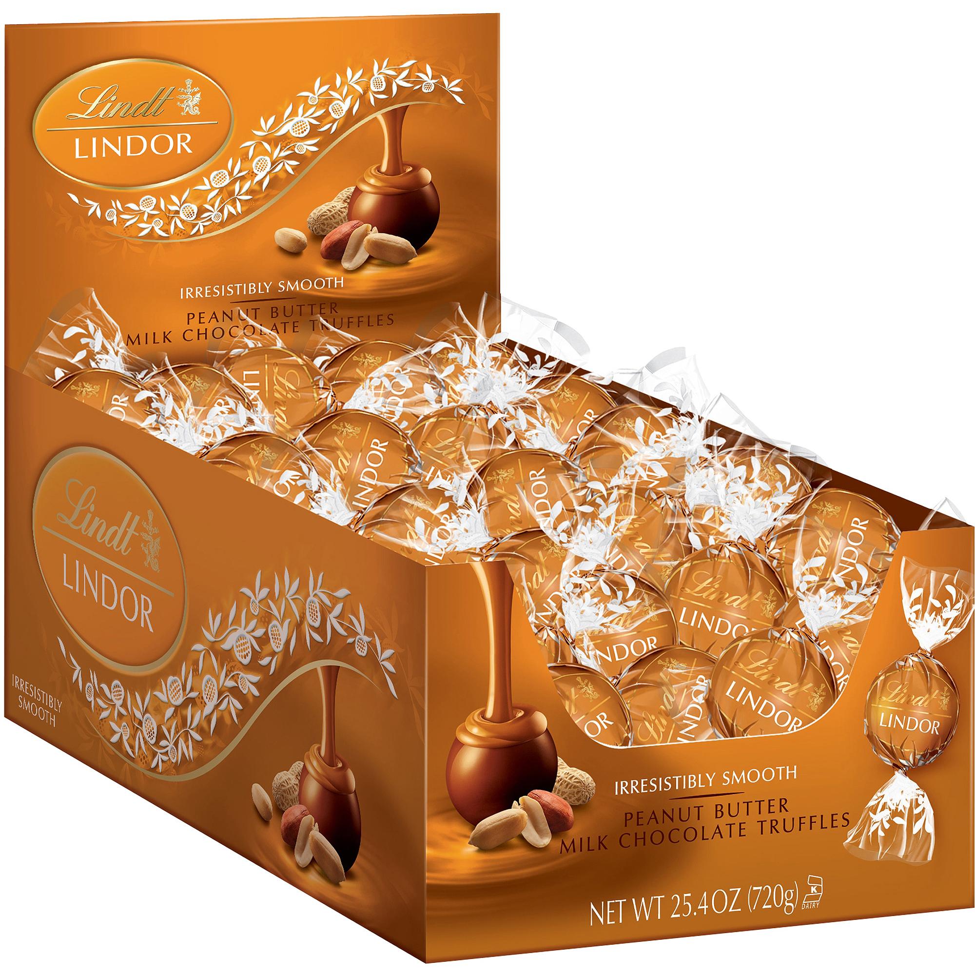 Lindor Peanut Butter Milk Chocolate Truffles, 25.4 oz