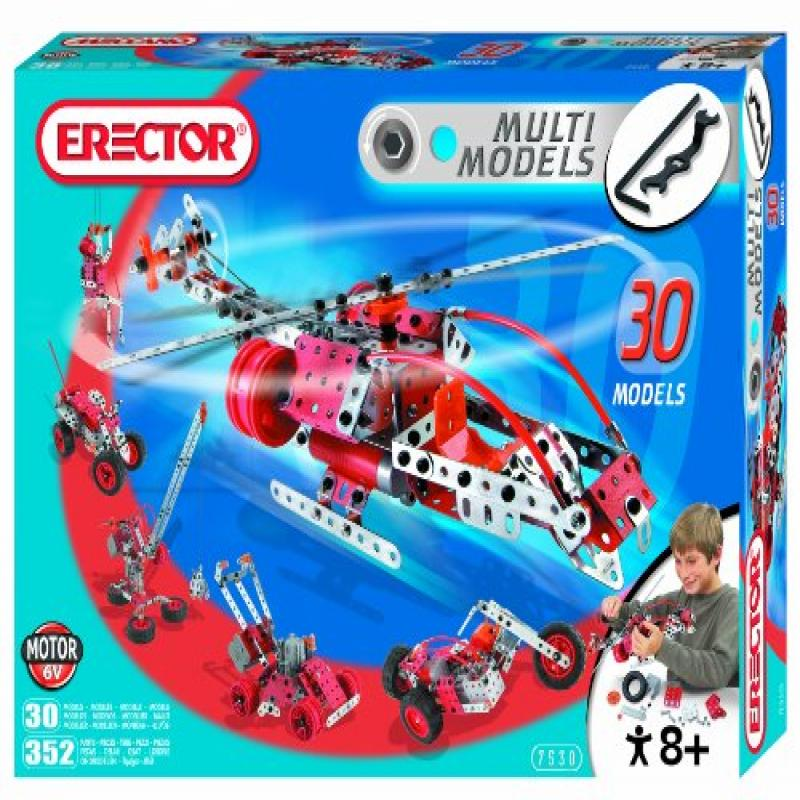 Erector Motorized Multi Model Set, 352 Pieces by