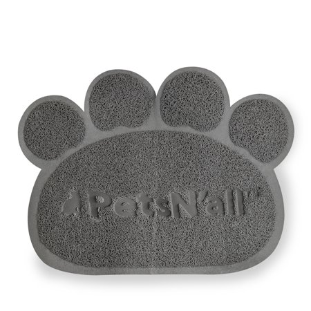 PetsN'All Paw Shaped Cat Litter Mat - Waterproof Cute Design Litter Trapper Mat Large (24 x 17.5