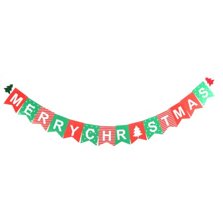 Unique Bargains Christmas Paper Card DIY Festival Party Decoration Photo Prop Banner Bunting](Fall Festival Decorations)