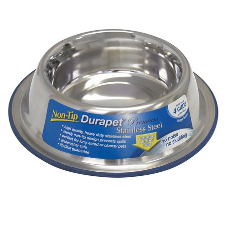 Durapet Non-Tip Bowl, Small, Heavyweight stainless steel bowl Ship from US..., By Our (Tip Bowl)