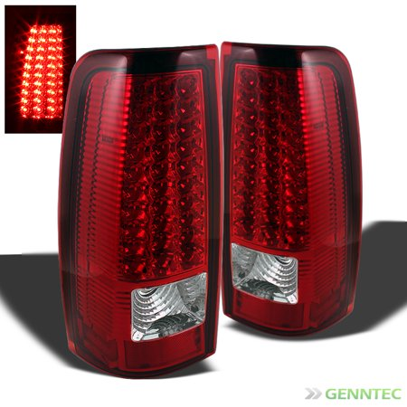 For 2003-2006 Chevy Silverado 2005-2006 GMC Sierra LED R/C Tail Lights Lamp  Set Pair Left+Right 2004 (Led Tail Lights Chevy)