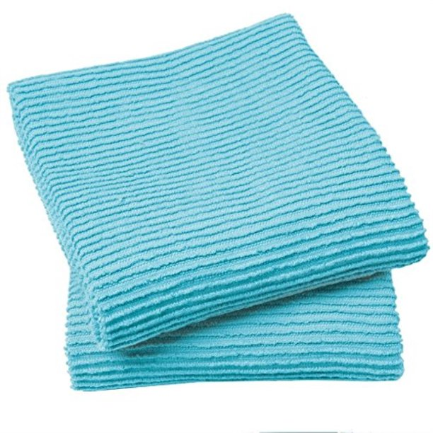 now designs ripple kitchen towel, set of 2, bali blue ...