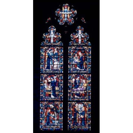 Florence Nightingale Window Stained Gl Cathedral Of Washington Dc Usa Canvas Art 24 X