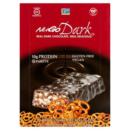 Nugo Dark bretzel de chocolat avec des barres de sel de mer Protéines - 12 CT