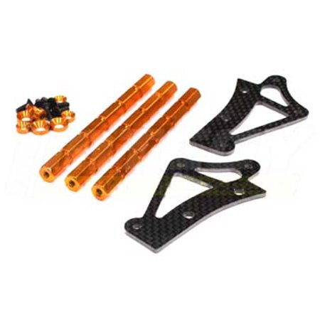 Integy RC Toy Model Hop-ups BAJ088ORANGE Stock Roll Cage Reinforcement Protection Top Mount for HPI Baja 5B & (Hpi Savage Roll Cage)