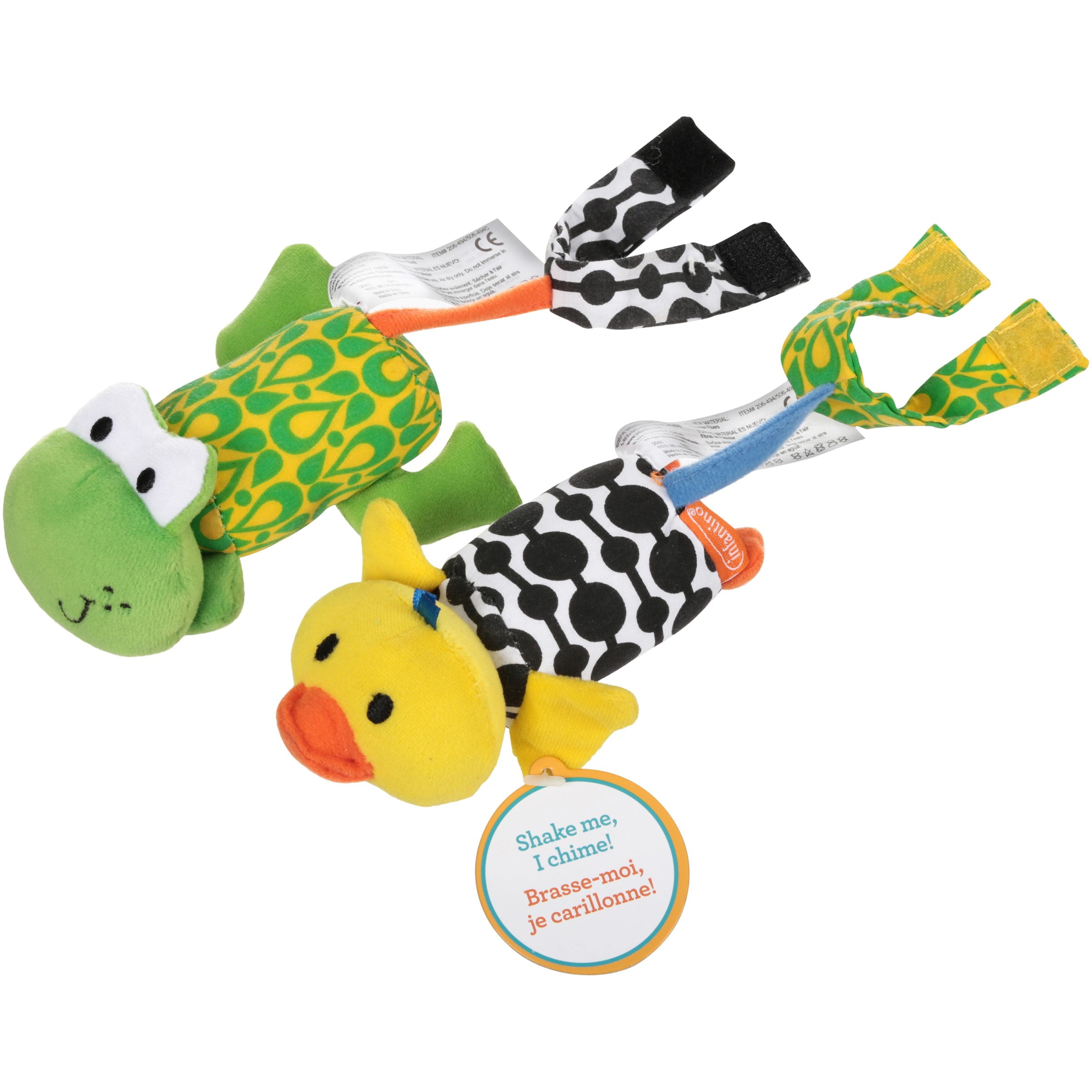 Infantino Tag Along Chimes, Duck & Frog by Infantino
