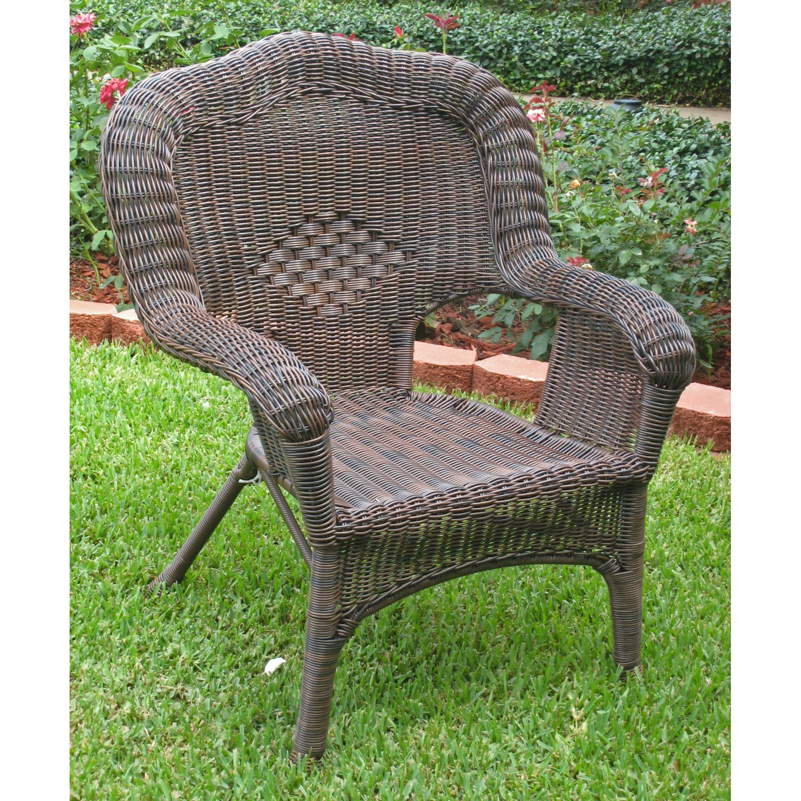 International Caravan Madison Wicker Resin Patio Chair by International Caravan
