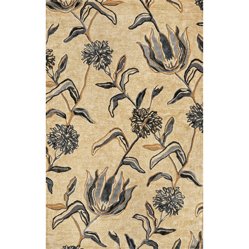 KAS Rugs Florence Ivory/Blue Wildflowers Area Rug