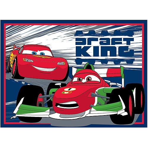 "Disney Cars ""Draft King"" Nylon Rug, Blue"