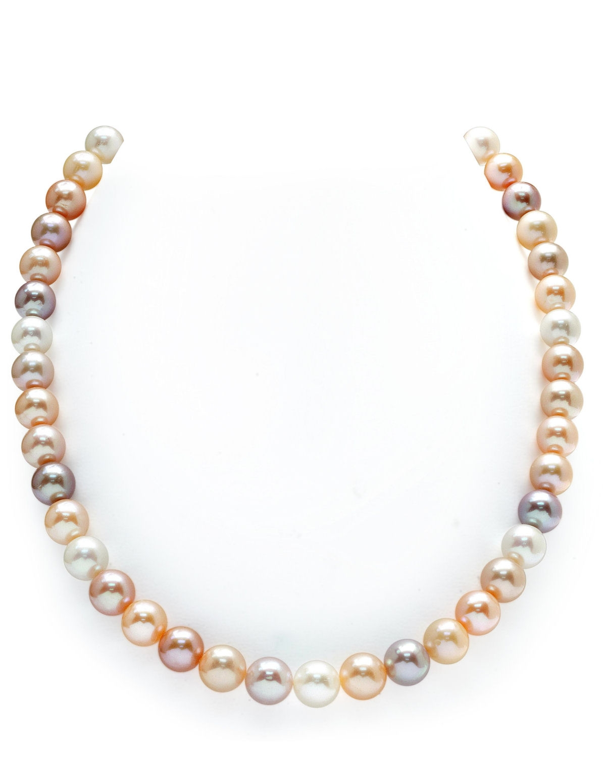 """THE PEARL SOURCE 14K Gold 8-9mm AAA Quality Multicolor Freshwater Cultured Pearl Necklace for Women in 36"""" Opera... by The Pearl Source"""