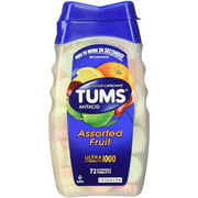TUMS Ultra Strength Antacid/Calcium Chewable Tablets, Assorted Fruit 72 ea (Pack of 3)