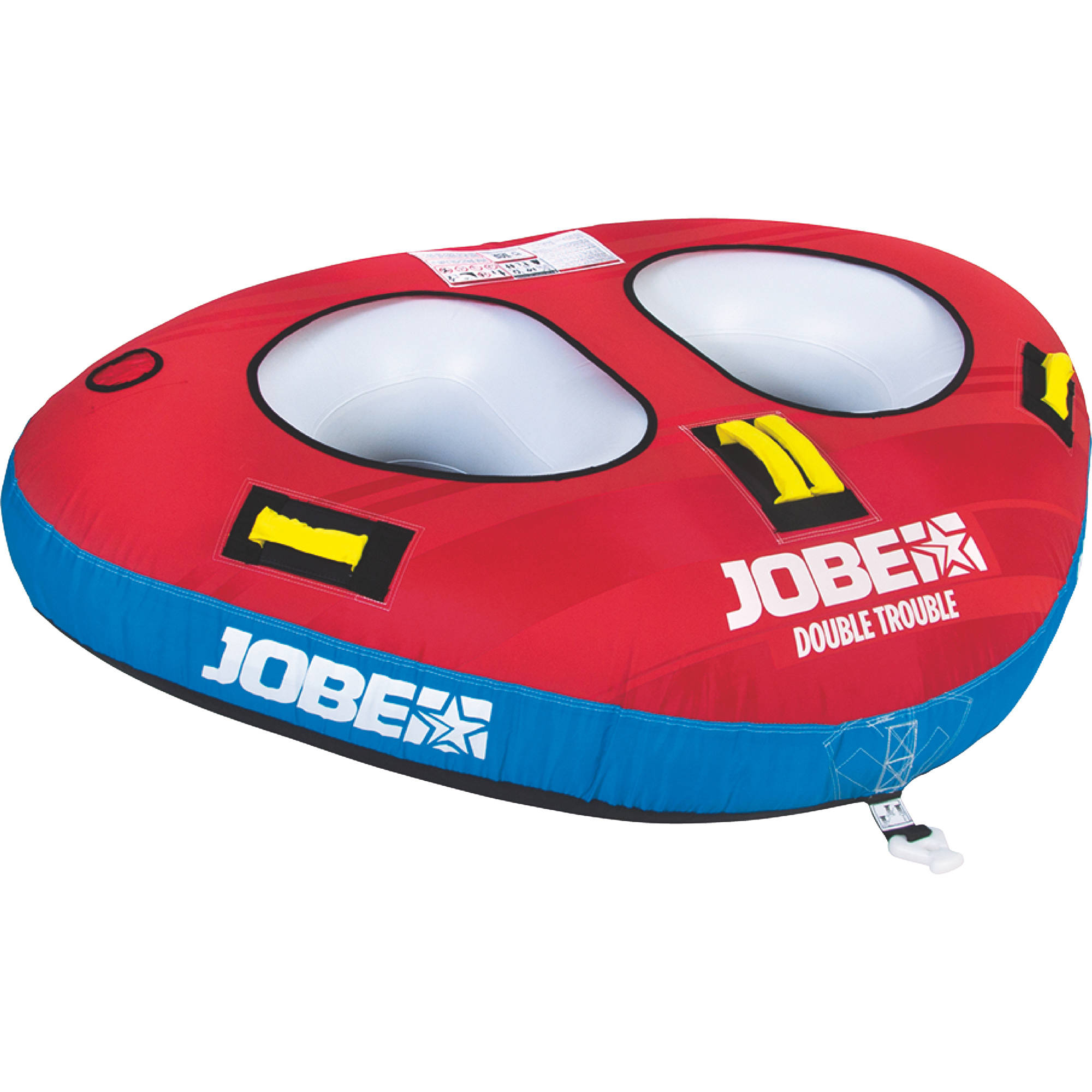 Jobe Double Trouble Towable Tube, 2 Person by Jobe Sports