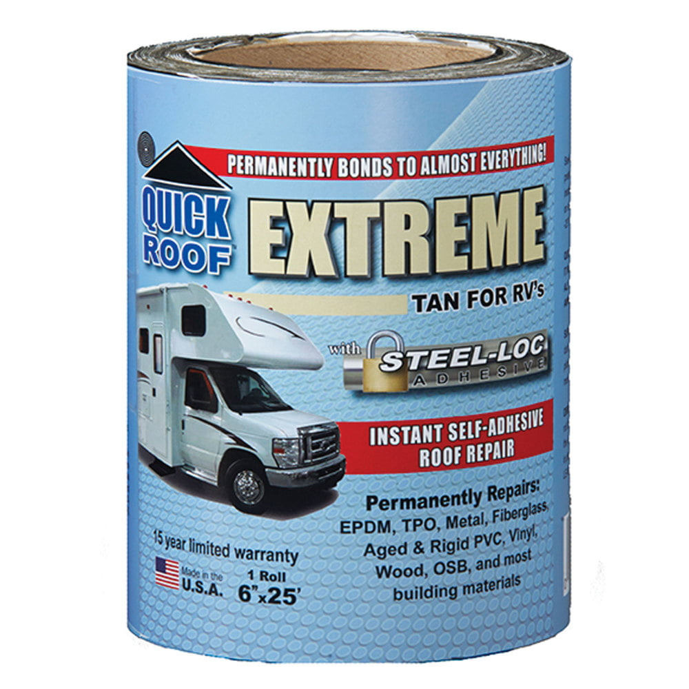 Cofair T-UBE425 Quick Roof Extreme with Steel-Loc Adhesive 4 x 25 Tan for RVs