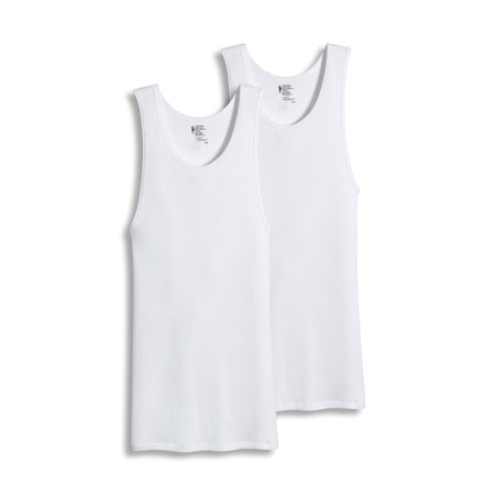 Jockey New White Mens Big   Tall Size Lt Two Pack Ribbed Undershirt Tanks