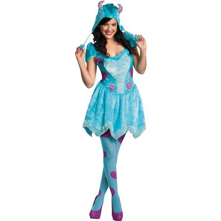 d6865284b1 Monsters University Sassy Sulley Adult Halloween Costume with Tights -  Walmart.com