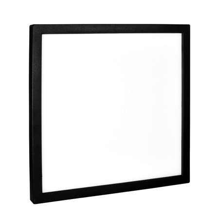 the latest 9fb94 1f2e4 Luxrite 9 Inch Square LED Flush Mount Ceiling Light, 18W, Black Finish,  5000K (Bright White), 1200 Lumens, Dimmable, Surface Mount LED Ceiling  Light, ...