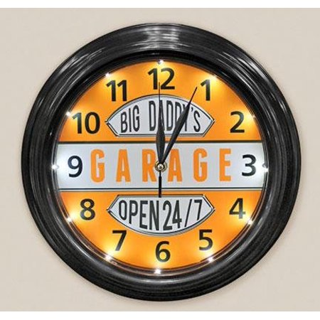 Sign Of The Times Big Daddys Garage Clock